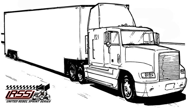 Dirt Late Model Coloring Pages